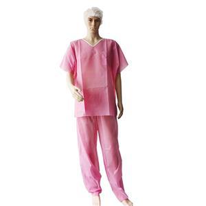 PP soft disposable scrub suits pajamas surgical adult patient disposable surgical uniform