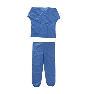 Hospital Non Woven Scrub Suit Patient Pyjama Non-sterile Disposable Pants And Jackets