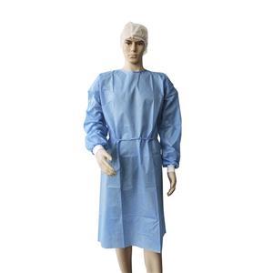 CE ISO FDA-zugelassenes medizinisches Einweg-Vlies-OP-Kleid Blaues OP-Kleid