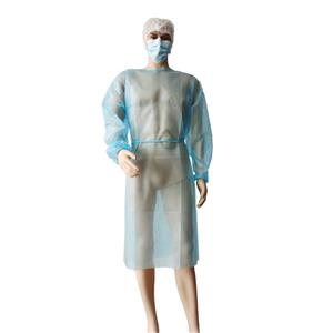 SPP Einweg-Langarm-Isolationskleid aus Polypropylen-Chirurgenkleid mit Krawattenverschlusskleid