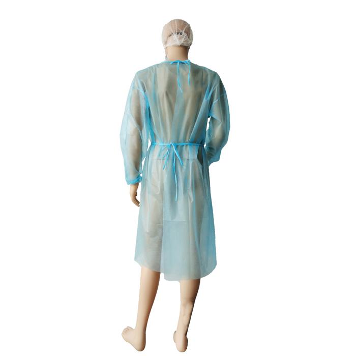 Einweg-Langarm-Isolationskleid