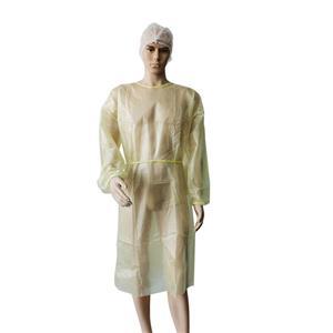 CE-zertifiziertes PE-laminiertes undurchlässiges Isolationskleid Einwegkleider Medical Disposable Nurse Gown
