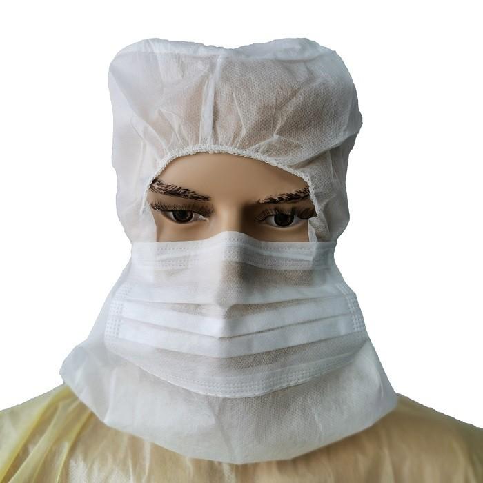 Wholesale Disposable Balaclavas Non Woven Astronaut Caps Astrocap With 2 Layer Facemask
