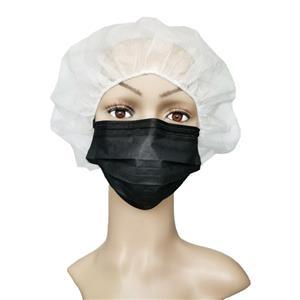 CE EN 14683 Typ IIR Zugelassene medizinische Einweg-3-Lagen-Ohrmuschel für chirurgische Ärzte Schwarz