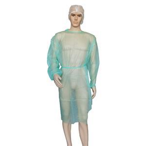 Großhandel Einweg Geflügel Kittel PP Chemotherapie Kleider Chirurg Kleid mit Rückenverschluss