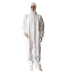 Microporous Disposable White Coverall Disposable Cleanroom Overall Spray Suit
