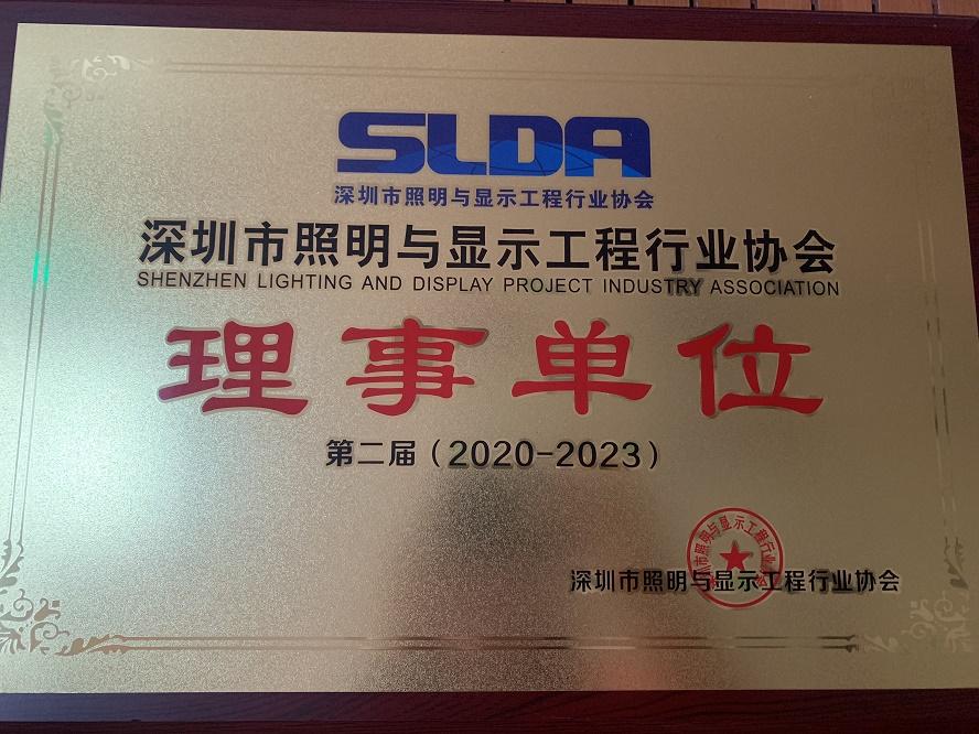 深圳市照明与显示工程行业协会理事单位