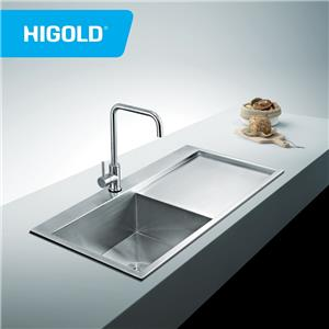 Flushmount handmade Stainless Steel 304 Home kitchen Sink With Drain board