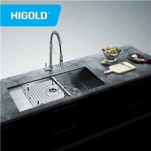 2 drainers Undermount Handmade SUS304 Steel Kitchen Sink With drain board
