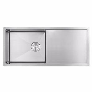 Undermount handmade SUS304 Steel Single Bowl Kitchen Sink With drain board