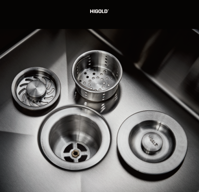 Topmount Handmade SUS304 Stainless Steel Kitchen Sink With Drain board,Higold