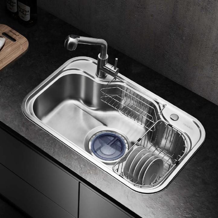 Multifuntional Single bowl SUS304 Stainless Steel Pressing Sink