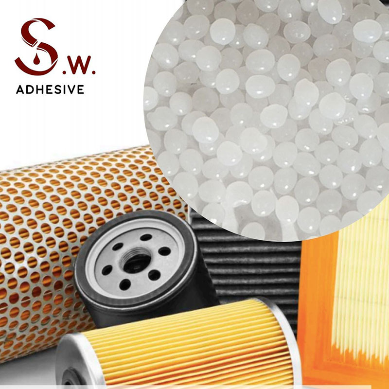 Fast setting time, outstanding bonding strength, and good operability, suitability for fast production, are the properties that belong to hot melt adhesives, which is the best selection for air filter productions. Hot melt adhesives assist filter shaping, and can be applied on filter pleating, filter, assembly, cap fixing and bonding, hollow fiber stuffing, bonding two sides of filtration media.