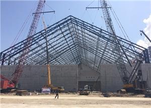 Indoor Coal Yard Steel Truss Roof Steel Structure Engineering