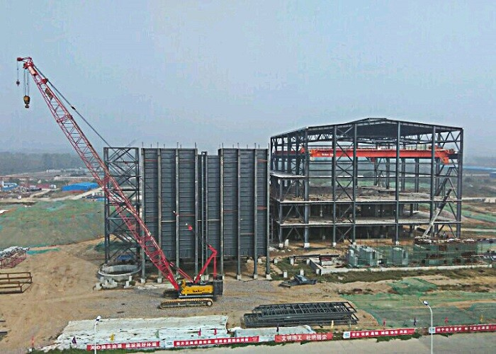 2*350MW Thermal Power Plant Steel Structure Engineering