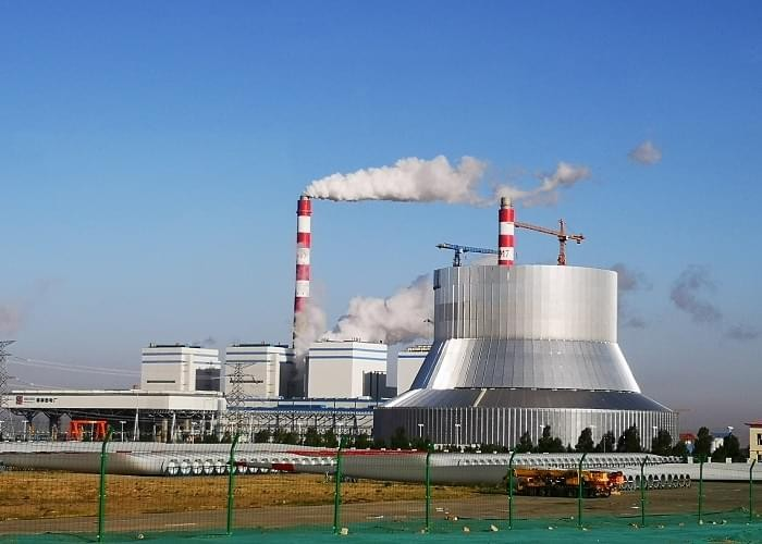 2*350MW Heat Supply Unit's Cooling Tower Steel Structure Project