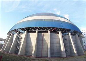 2*660MW Circular Coal Yard, Chimney Circular Steel Structure Engineering