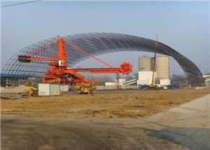 Dry Coal Shed Arc Steel Truss Structure Engineering Of 1*600MW Supercritical Machine Set Coal Transfer System