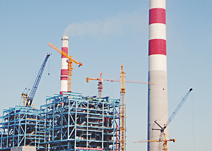 2*660MW Ultra-supercritical Steel Structure Chimney Engineering