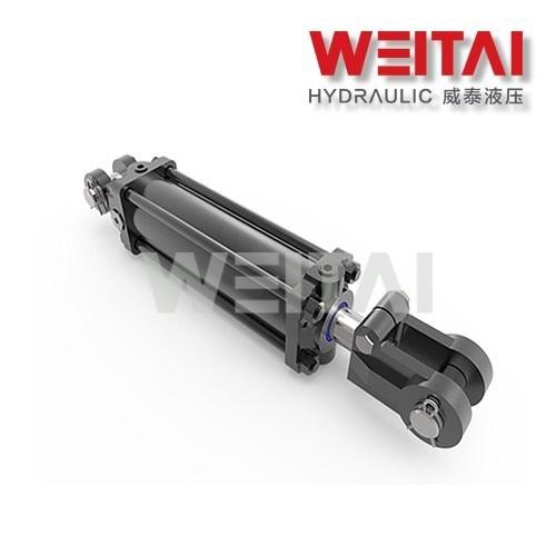 Cilindro hidráulico de doble efecto con barra de acoplamiento 3000PSI 2