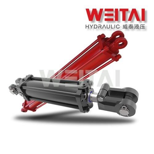 Cilindro hidráulico de dupla ação da barra de direção 3000PSI 3,5