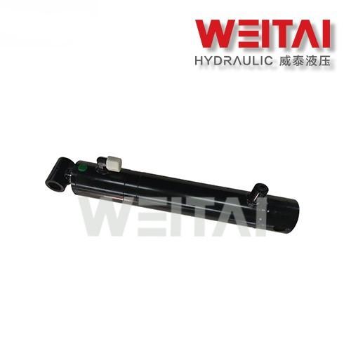 Cilindro hidráulico soldado de tubo cruzado de dupla ação 1,5 furo 4-24 tempos