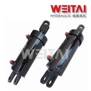 Cilindro hidráulico soldado da extremidade da manilha de ação Doube 2,5