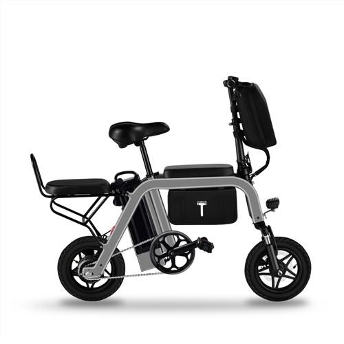 New Folding Electric Bicycle 12-inch Detachable Battery Travel Ebike Adult 2-wheel Electric Bike