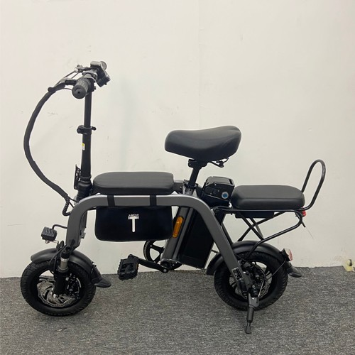Portable Electric Bike 2 Wheel Electric Bicycles 12 Inch 350W 48V Parent-child Electric Scooters Adults Removable Battery