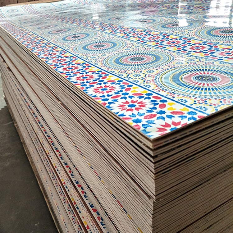 1.6mm-25mm Flower Color Paper Overlay Plywood for Wall Panel