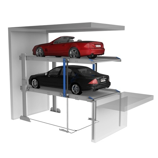 Two Post Auto Parking Lifts With Simple Pit