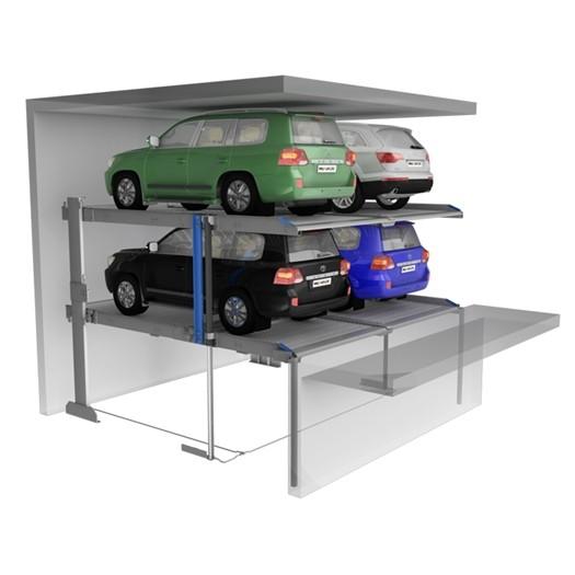 Twin Platforms Pit Car Parking Lifts For SUVs