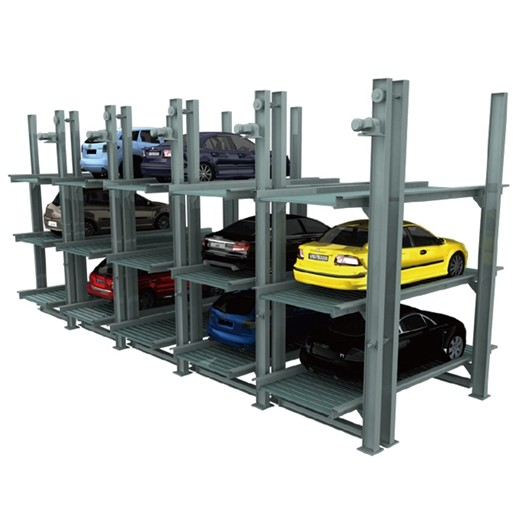 Underground Elevated Car Parking Systems 3 Floors