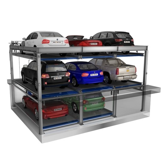 Lift And Slide Hydraulic Automatic Car Parking System