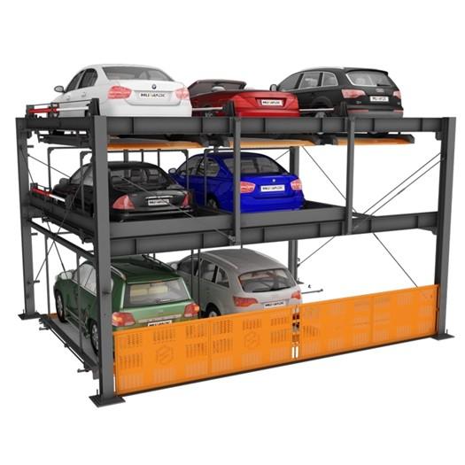 3 уровневая гидравлическая автоматическая система парковки автомобилей