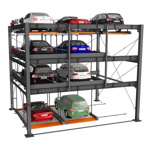 4 уровневые механические автомобильные парковочные системы