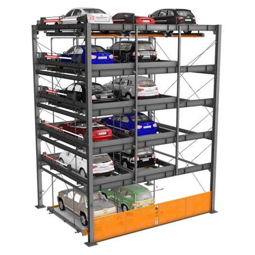 China Automatic Puzzle Car Parking Systems 6 Levels