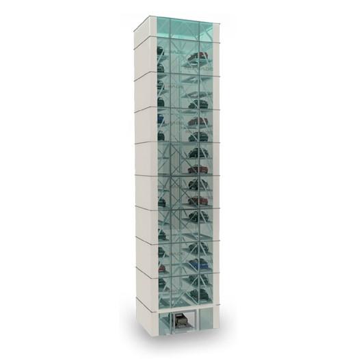 Умные вертикальные парковочные системы Tower 15 уровней
