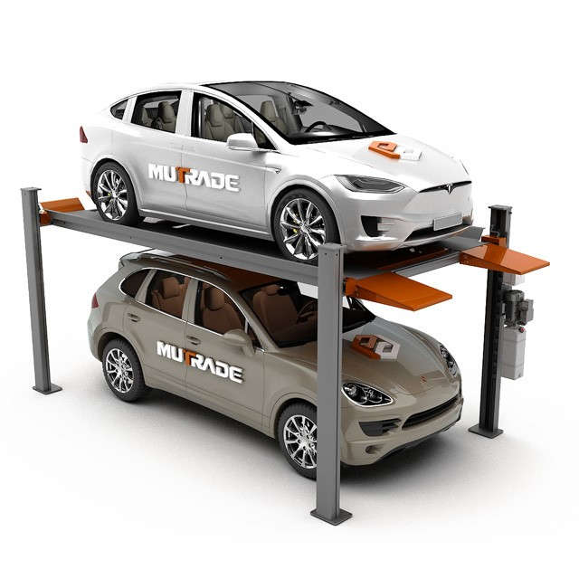 Portable 4 Post Vehicle Storage And Parking Lifts