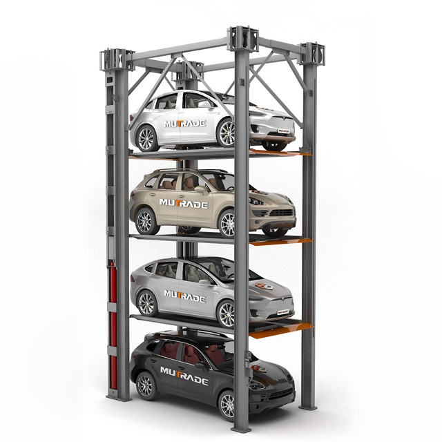 Four Post Quad Stacking Car Storage Lifts Parking System