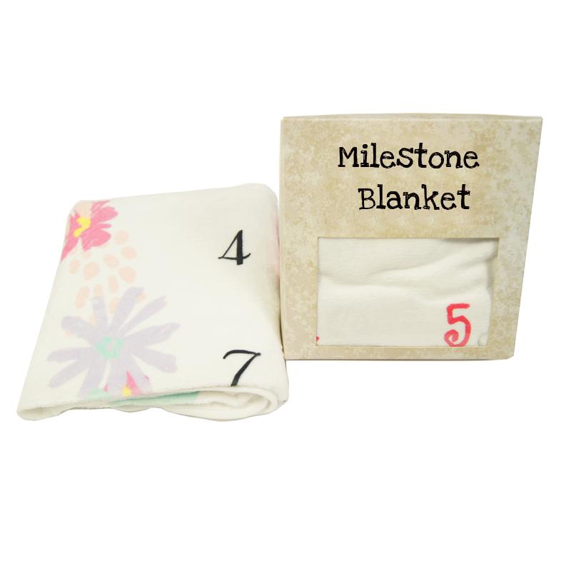 milestone baby blanket flannel fleece