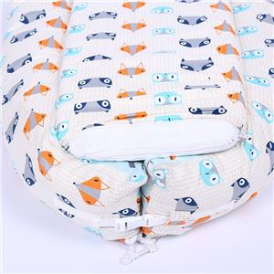 Comfortable Cotton Cover Polyfilling Pod Nest Lounger 0-12 Months Portable Baby Bed