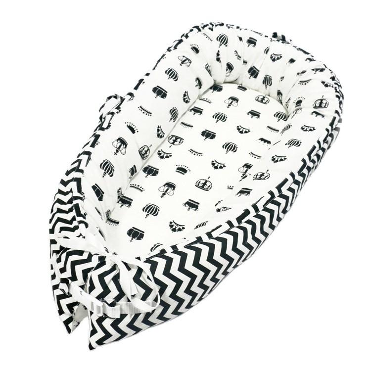Cama de bebé portátil con tumbona para recién nacidos Nest Organic para niños pequeños