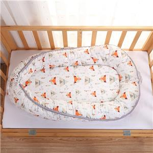 100% Cotton Cover Removable Foam Mattress Baby Sleeping Bed