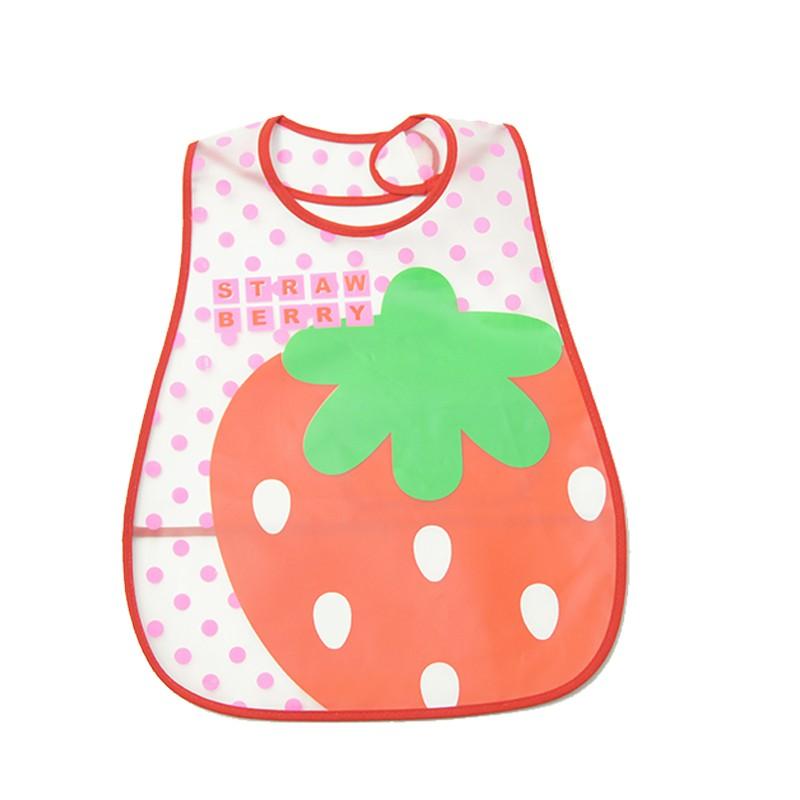 Baby Kids Waterproof Reverse EVA Bibs Burp Cloths Feeding Eating Painting Bib Smock Apron