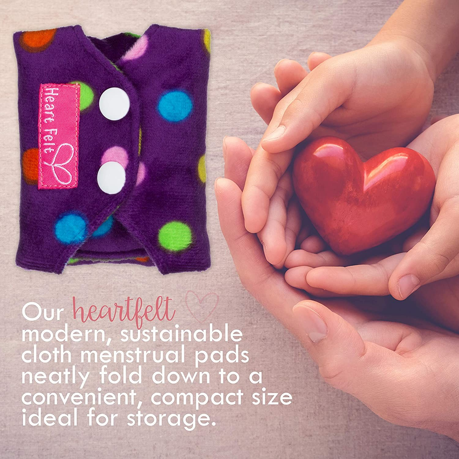 Sanitary Reusable Cloth Menstrual Pads by Heart Felt Manufacturers, Sanitary Reusable Cloth Menstrual Pads by Heart Felt Factory, Supply Sanitary Reusable Cloth Menstrual Pads by Heart Felt