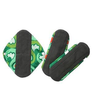 Women Bamboo Sanitary Napkins Breathable Reusable Menstrual Cloth Pads
