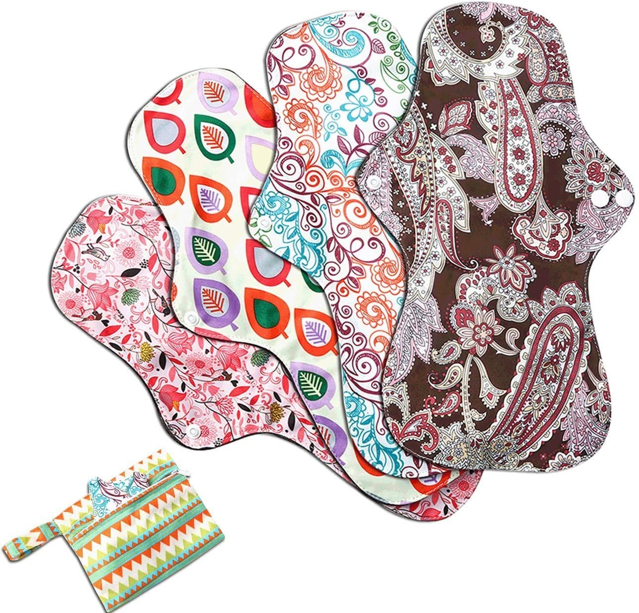 4 PCs Cloth Sanitary Pads Reusable X Large Cloth Menstrual Pads for Heavy Flow Night Use + Wet Bag Manufacturers, 4 PCs Cloth Sanitary Pads Reusable X Large Cloth Menstrual Pads for Heavy Flow Night Use + Wet Bag Factory, Supply 4 PCs Cloth Sanitary Pads Reusable X Large Cloth Menstrual Pads for Heavy Flow Night Use + Wet Bag