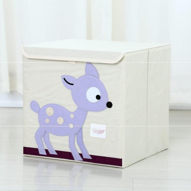 Small Toy Chest Foldable Stackable Storage and Organization Box for Kids