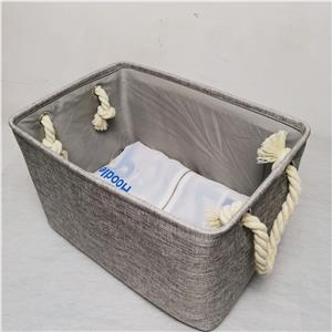 Clothing Storage Box Cotton Material Large Size with Coarse cotton handle Toy Container